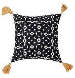 TEX HOME Coussin Pompom Moucharabieh