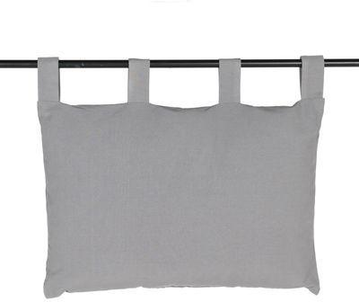 Tête de lit grise pour lit