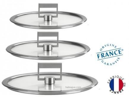 Serie 3 couvercles verre strate