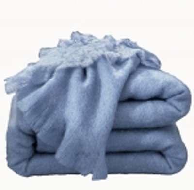 Couverture laine mohair