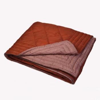 Couvre lit en soie matelassé