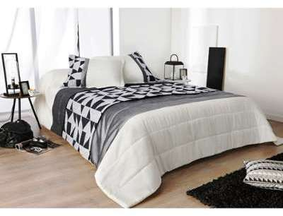 Dessus de lit noir et blanc