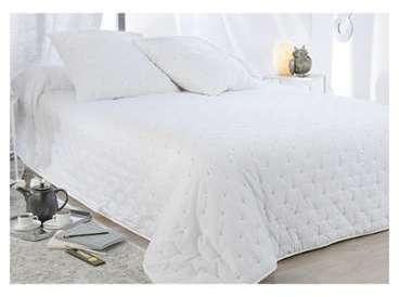 Dessus de lit chic piqué blanc