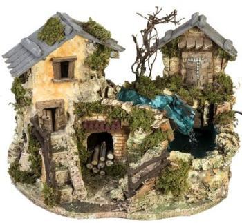 Cascade dans les maisons milieu