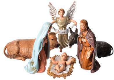 Nativité 12 cm 6 santons Moranduzzo
