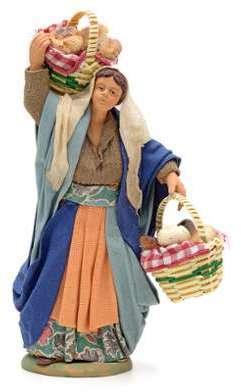 Santon femme avec paniers