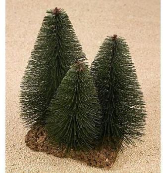 Groupe de 3 arbres miniatures