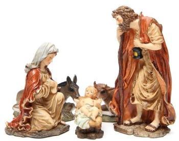 Nativité en résine 32 cm soft