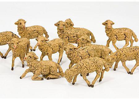 Figurines pour crèche moutons
