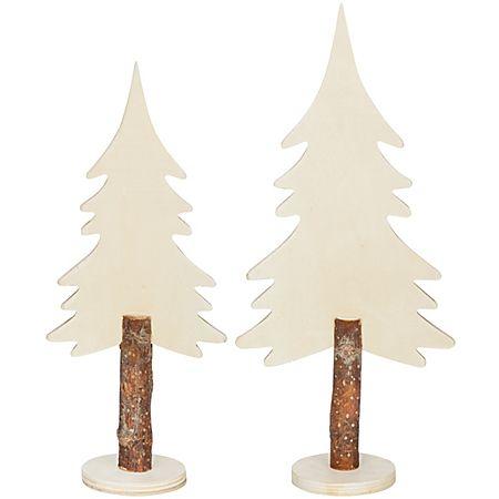 Sapins en bois brut 25 cm