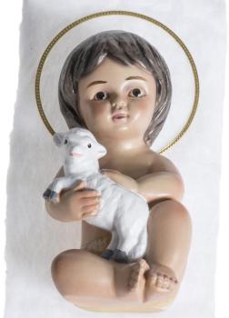 Enfant Jésus avec agneau en