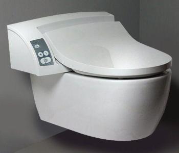 Abattant WC lavant avec douchette
