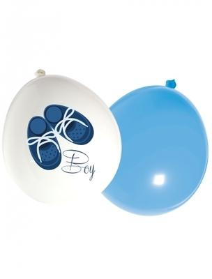 16 Ballons latex Baby Boy