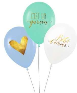 3 Ballons latex biodégradable