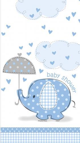 Nappe plastique Elephant Bleu
