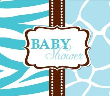 8 Cartes d invitation Baby
