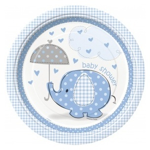 8 Assiettes carton Elephant