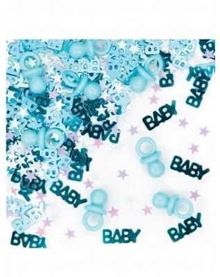 Confettis tétine baby bleu