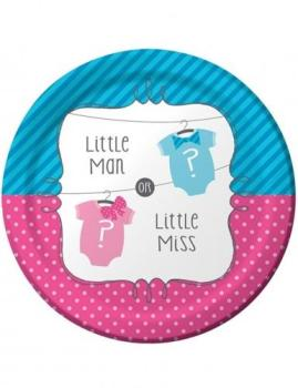 8 Assiettes en carton Baby