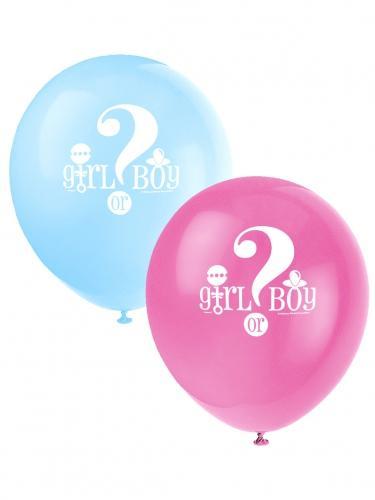 8 Ballons Imprimés Girl or
