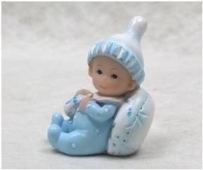 2 Figurines en résine bébé