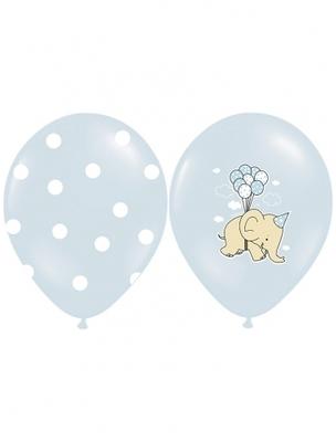 6 Ballons éléphants bleus