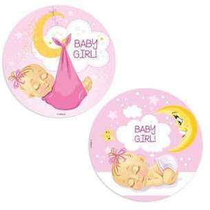 Disque azyme Baby Shower fille