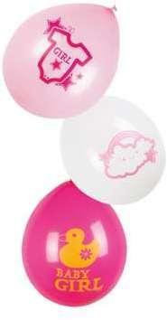 6 Ballons latex Nuage rose