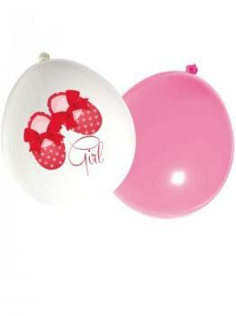 16 Ballons latex roses et