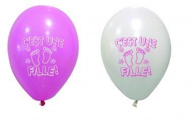 8 Ballons imprimés C est une