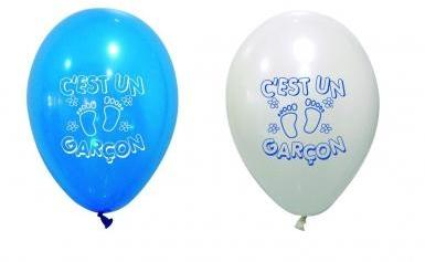 8 Ballons imprimés C est un