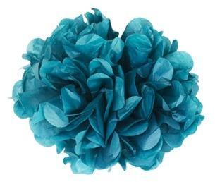 Pompons Bleu Pétrole 20cm