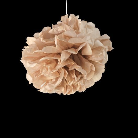 Pompons Rose Poudré 20cm x2