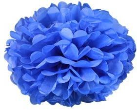 Pompons Bleu Pétrole 30cm