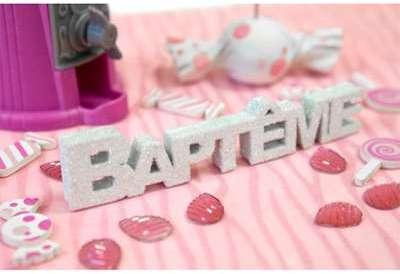 D CO DE TABLE BAPTÊME BLANC