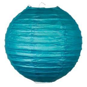 Boule Papier 20cm Bleu Pétrole