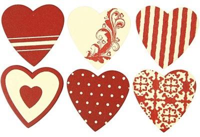 Coeur en bois rouge blanc