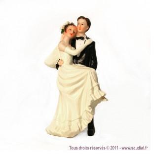 Figurine couple en marié