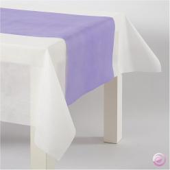 Chemin de table papier lilas