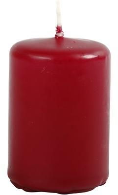 Bougie cylindrique bordeaux