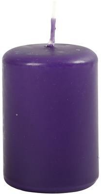 Bougie cylindrique violet