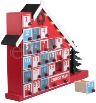 Maison en bois comme calendrier