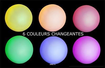 Boule a Led 6 couleurs D 15
