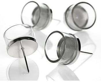 Porte-bougies en verre avec