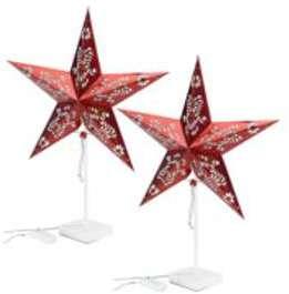 2 étoiles lumineuses à LED