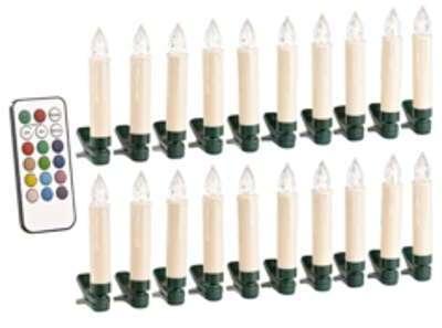 20 bougies de Noël à LED RVB