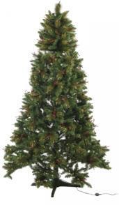 Sapin de Noël décoré rotatif