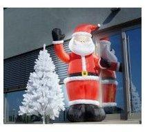 Père Noël gonflable avec bras