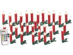 Bougies à LED pour sapin de
