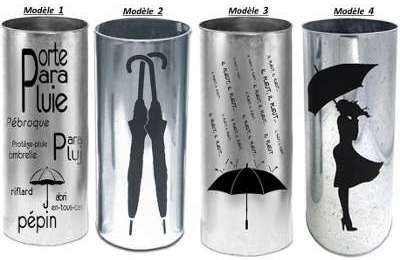 Porte parapluie en zinc d